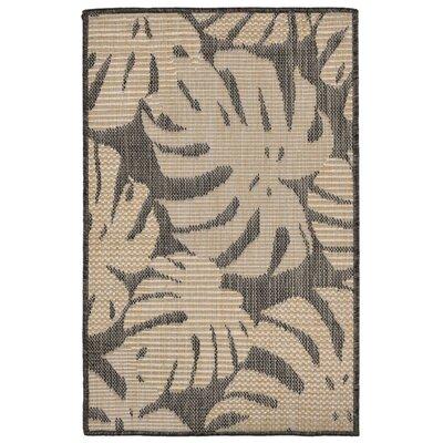 Stillwater Fronds Gray/Beige Indoor/Outdoor Area Rug Rug Size: Rectangle 2 x 3