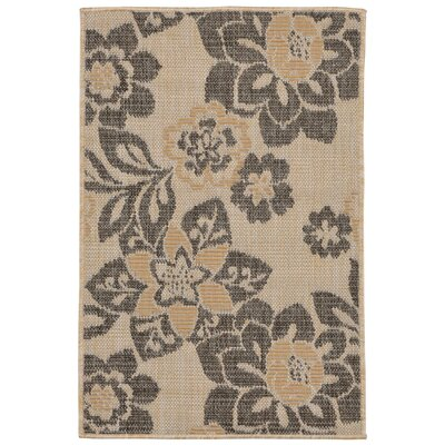 Stillwater Garden Gray/Beige Indoor/Outdoor Area Rug Rug Size: Rectangle 2 x 3