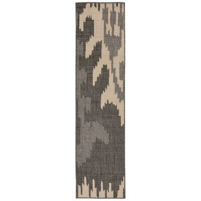 Finklea Ikat Gray/Ivory Indoor/Outdoor Area Rug Rug Size: Runner 2 x 75