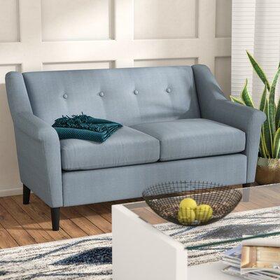 Bocan Modern Loveseat Upholstery: Blue Gray