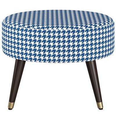 Grise Oval Ottoman