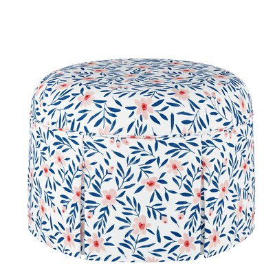 Eckles Round Skirted Ottoman