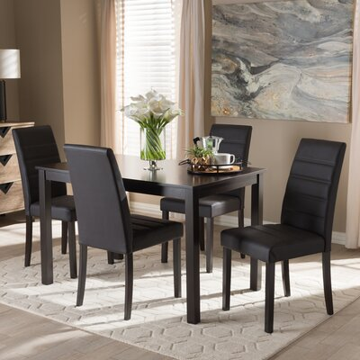 Petrillo 5 Piece Dining Set