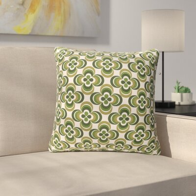 Murrin Cotton Throw Pillow Color: Olive Multi