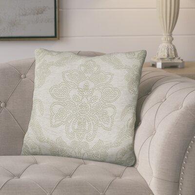 Kirksey Floral Jacquard Throw Pillow Color: Natural