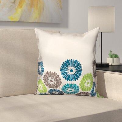 Orear Cool Tone Geometric Floral Throw Pillow
