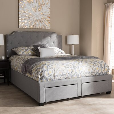 Meadors Upholstered Storage Platform Bed Size: King