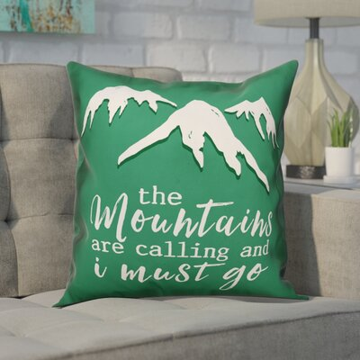 Cramer The Mountains Are Calling Throw Pillow