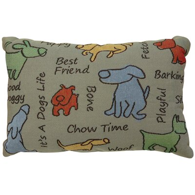 Thornhill Dog Show Tapestry Throw Pillow Pillow Cover Color: Olive
