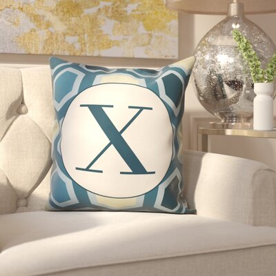 Hartig Hexagon Monogram Pillow Letter: X