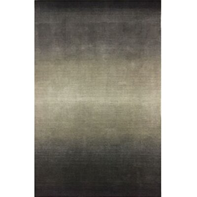 Hansford Ombre Hand-Woven Wool Gray Area Rug Rug Size: Rectangle 5 x  8