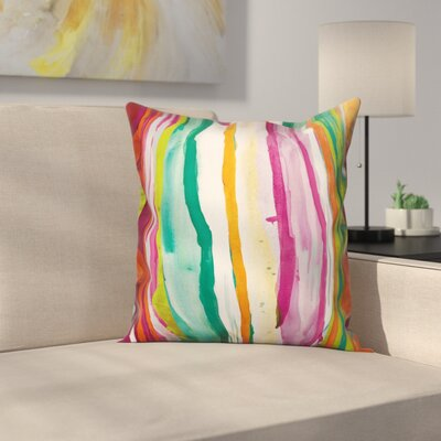Orduna Colorful Abstract Stripes Throw Pillow