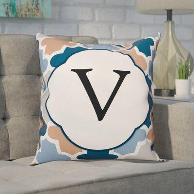 Comstock Monogram Throw Pillow Letter: V