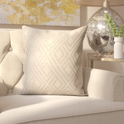 Mccourt Indoor/Outdoor Throw Pillow Color: Integrated Pewter, Size: 24 x 24