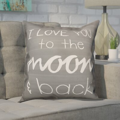 Delray I Love You to the Moon and Back Throw Pillow