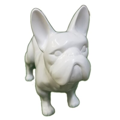 Infinytoon Standing French Bulldog Figurine Finish: White Ch007W