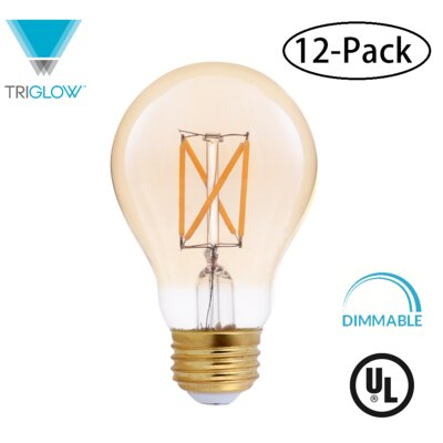 25W Equivalent Amber E26 LED Standard Edison Light Bulb