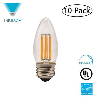 60W Equivalent E26 LED Candle Light Bulb