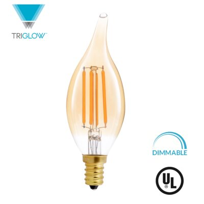 40W Equivalent Amber E12 LED Candle Edison Light Bulb