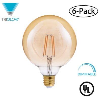 40W Equivalent Amber E26 LED Globe Edison Light Bulb
