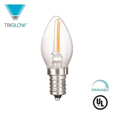 7W Equivalent E12 LED Candle Light Bulb