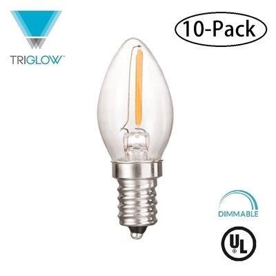 7W Equivalent E12 LED Candle Light Bulb