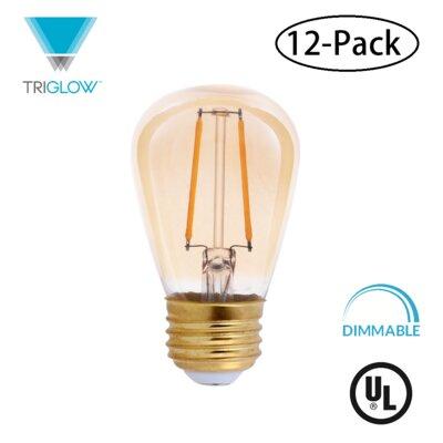 25W Equivalent Amber E26 LED Standard Edison Light Bulb