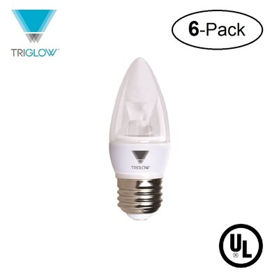40W Equivalent E26 LED Candle Light Bulb Bulb Temperature: 3500K