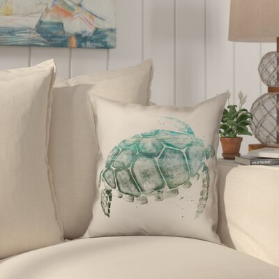 Heldt Watercolor Sea Turtle Throw Pillow