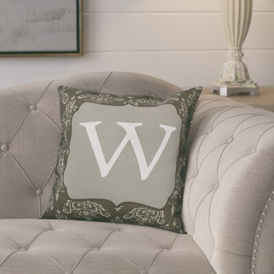 Krahn Damask�Monogram Throw Pillow Letter: W
