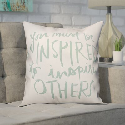 Deltoro Inspire Others Throw Pillow