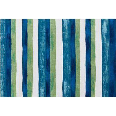 Hugo Hand-Woven Blue/Green Indoor/Outdoor Area Rug Rug Size: Rectangle 36 x 56