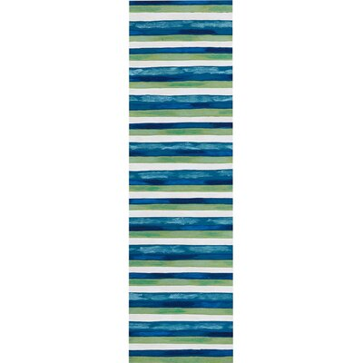 Hugo Hand-Woven Blue/Green Indoor/Outdoor Area Rug Rug Size: Rectangle 2 x 3