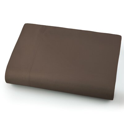 Chadwell Microfiber Flat Sheet Color: Chocolate Brown