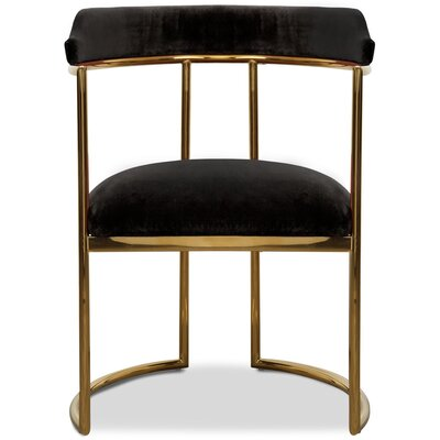 Acapulco Upholstered Dining Chair Upholstery Color: Black