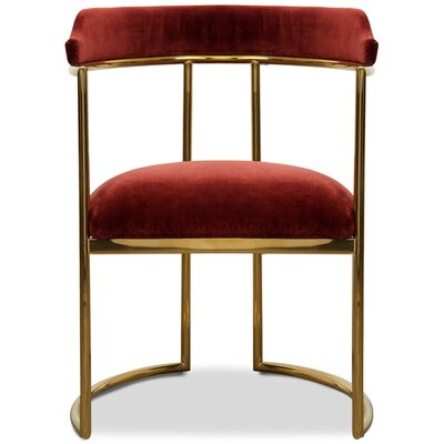 Acapulco Upholstered Dining Chair Upholstery Color: Merlot