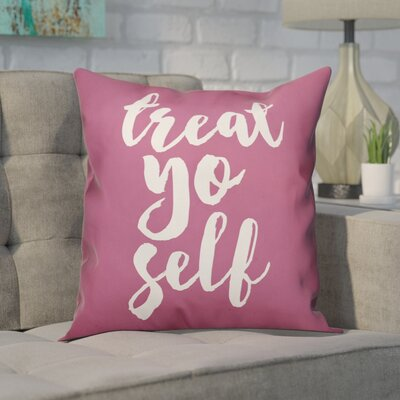 Cranston Treat Yo Self Throw Pillow