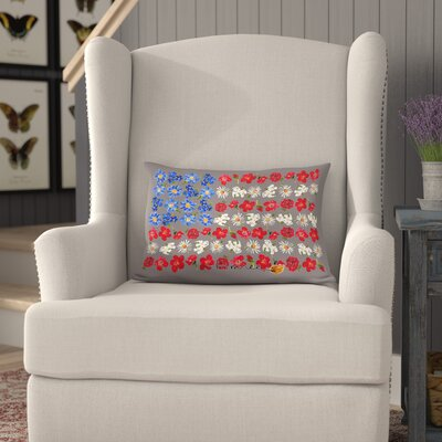 Ford Americana Flower Flag Lumbar Pillow