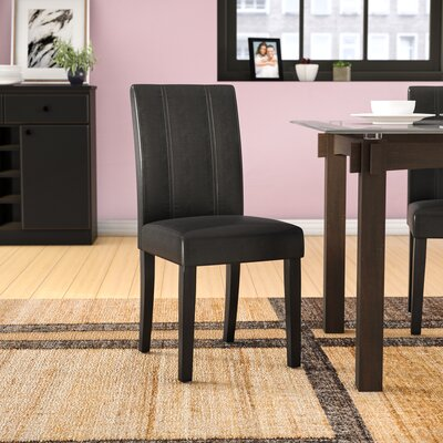 Humboldt Side Chair Upholstery: Black