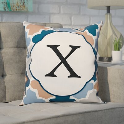 Comstock Monogram Throw Pillow Letter: X