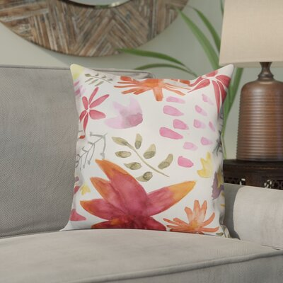 Ortez Stylized Floral Throw Pillow