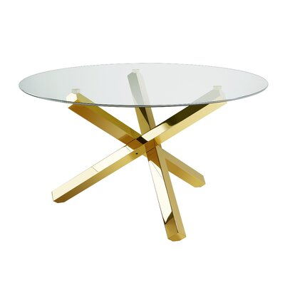 Stanberry Dining Table Table Base Color: Gold