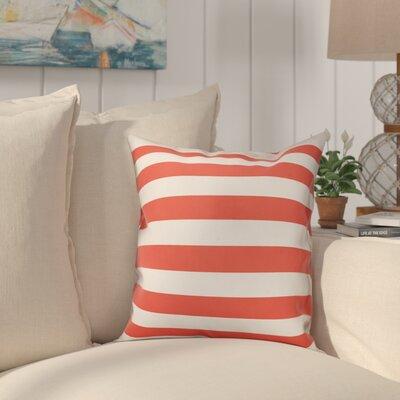 Dimaggio Stripes Throw Pillow Color: Orange