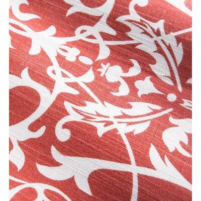 Shenandoah Tufted Outdoor Floor Pillow Color: Coral Filigree