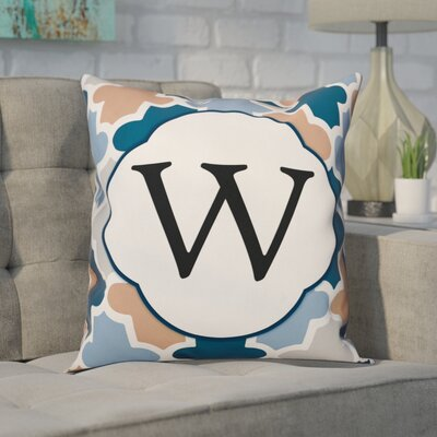 Comstock Monogram Throw Pillow Letter: W