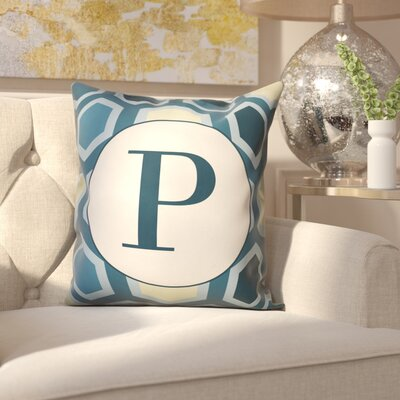 Hartig Hexagon Monogram Pillow Letter: P