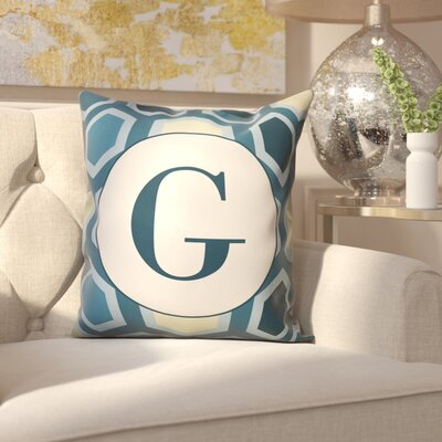 Hartig Hexagon Monogram Pillow Letter: G