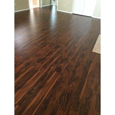 6 x 48 x 12mm Teak Laminate Flooring in Smooth Brown