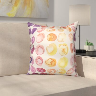 Ordaz Watercolor Polka Dots Throw Pillow
