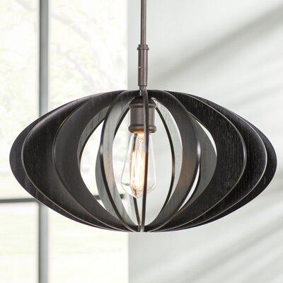 Bair Wicks Canopy 1-Light Pendant Finish: Metallic Bronze, Shade Color: Wenge